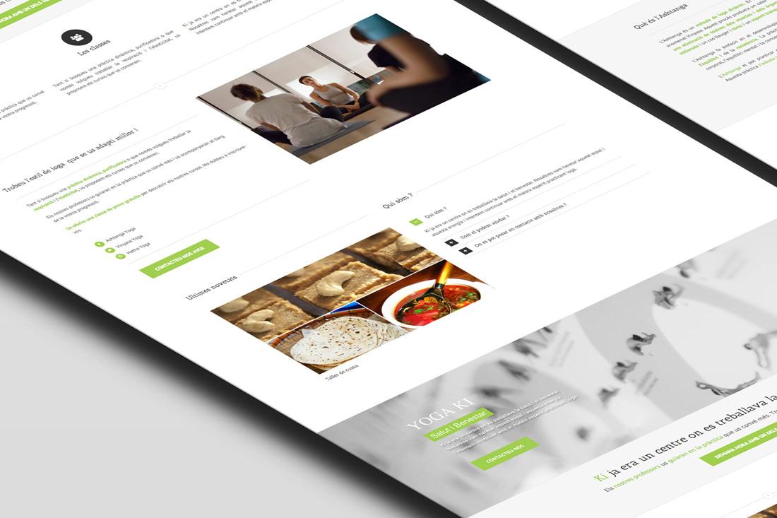 Création de site pour le centre Yoga Ki