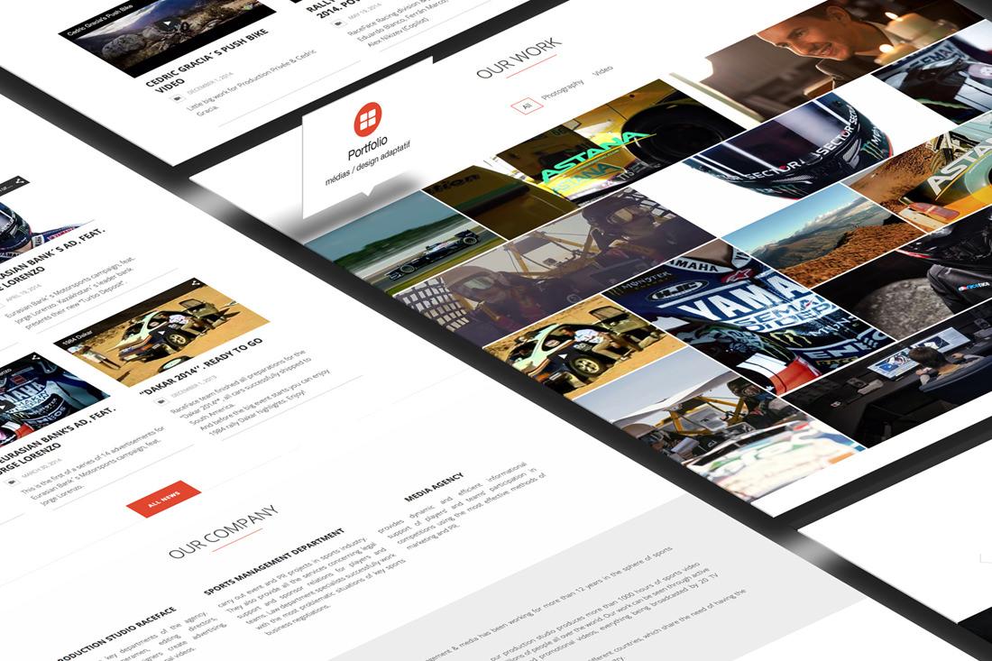 Création de site pour l'agence media RaceFace
