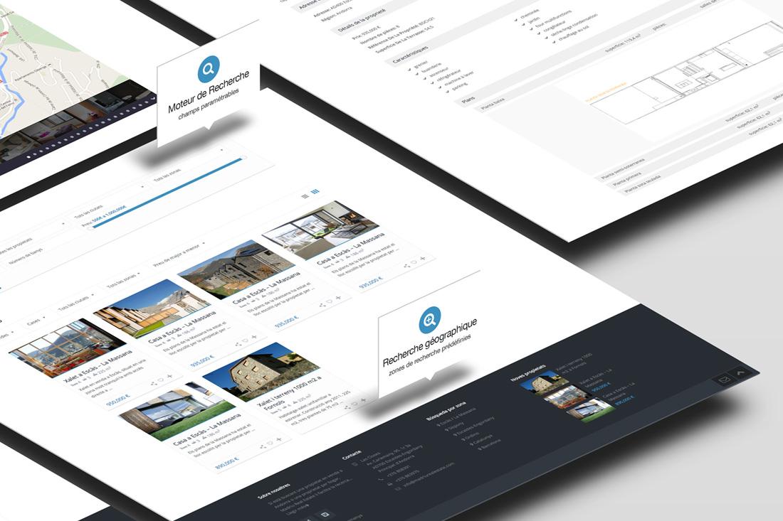 Création de site pour l'agence immobilière Madriu Real Estate